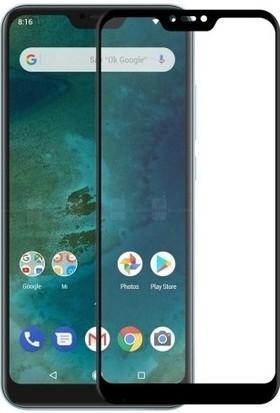 Casestore Xiaomi Mi Max 3 Ultra Lüx Tam Kaplayan 3D Ekran Koruyucu Cam Siyah + Şeffaf Silikon Kılıf