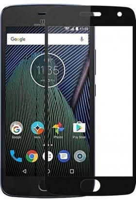 Casestore Lenovo G5 Plus Ultra Lüx Tam Kaplayan 3D Ekran Koruyucu Cam Siyah + Şeffaf Silikon Kılıf
