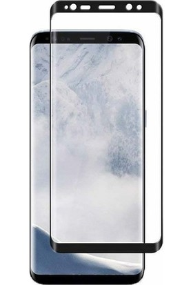 Casestore Samsung Galaxy S9 Plus Ultra Lüx Tam Kaplayan 3D Ekran Koruyucu Cam Siyah + Deri Silikon Kılıf