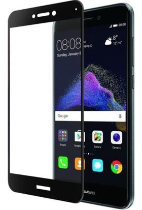 Casestore Huawei P Smart Ultra Lüx Tam Kaplayan 3D Ekran Koruyucu Cam Siyah + Deri Silikon Kılıf
