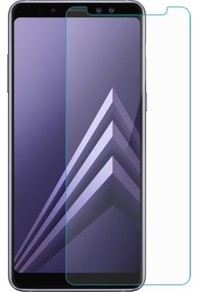 Casestore Samsung Galaxy A8 Plus 2018 Nano Ekran Koruyucu Cam Şeffaf + Şeffaf Silikon Kılıf