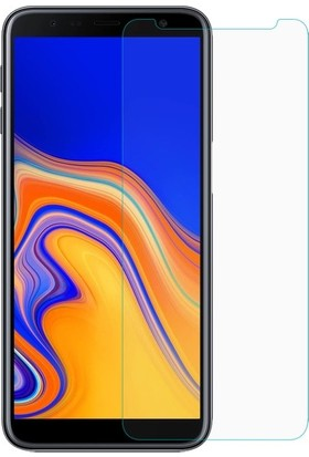 Casestore Samsung Galaxy J4 Plus Nano Ekran Koruyucu Cam Şeffaf + Şeffaf Silikon Kılıf