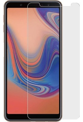 Casestore Samsung Galaxy A7 2018 Nano Ekran Koruyucu Cam Şeffaf + Şeffaf Silikon Kılıf