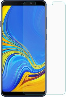 Casestore Samsung Galaxy A9 2018 Nano Ekran Koruyucu Cam Şeffaf + Şeffaf Silikon Kılıf