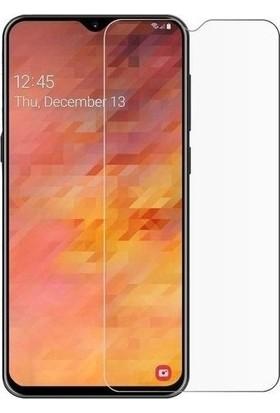 Casestore Samsung Galaxy M10 Nano Ekran Koruyucu Cam Şeffaf + Şeffaf Silikon Kılıf