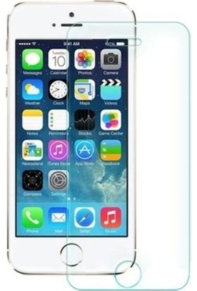 Casestore Apple iPhone 5S Nano Ekran Koruyucu Cam Şeffaf + Şeffaf Silikon Kılıf