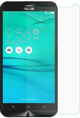 Casestore Asus Zenfone Max Plus ZB570TL Nano Ekran Koruyucu Cam Şeffaf + Şeffaf Silikon Kılıf