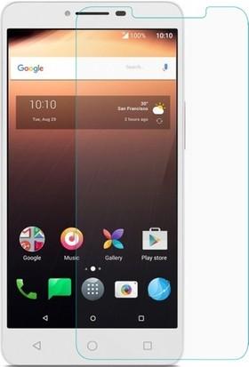Casestore Alcatel A3 Nano Ekran Koruyucu Cam Şeffaf + Şeffaf Silikon Kılıf