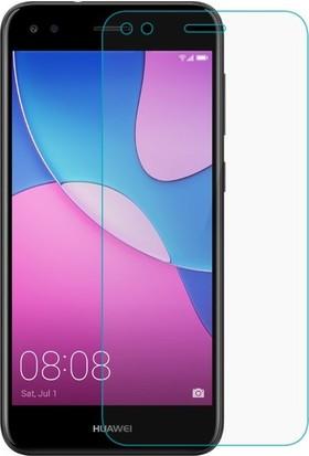 Ehr. Huawei P9 Lite Mini Nano Ekran Koruyucu Cam Şeffaf + Şeffaf Silikon Kılıf