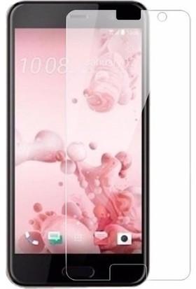 Casestore HTC U Play Nano Ekran Koruyucu Cam Şeffaf + Şeffaf Silikon Kılıf