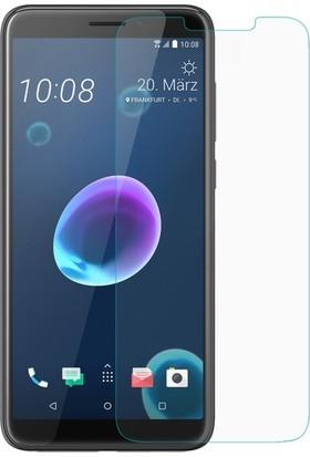 Casestore HTC Desire 12 Nano Ekran Koruyucu Cam Şeffaf + Şeffaf Silikon Kılıf