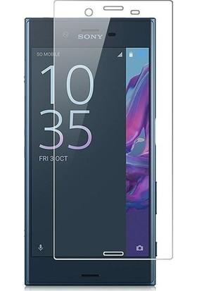 Casestore Sony Xperia XZ1 Nano Ekran Koruyucu Cam Şeffaf + Şeffaf Silikon Kılıf