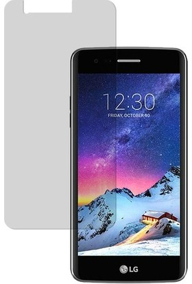 Casestore LG K8 2017 Nano Ekran Koruyucu Cam Şeffaf + Şeffaf Silikon Kılıf
