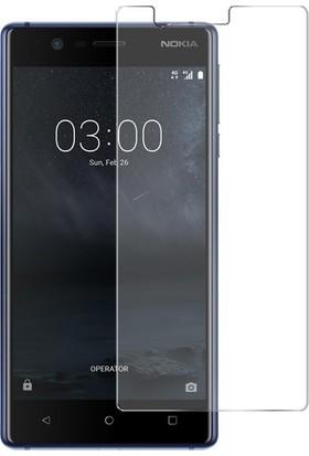 Casestore Nokia 3 Nano Ekran Koruyucu Cam Şeffaf + Şeffaf Silikon Kılıf
