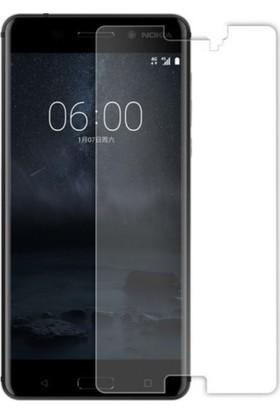 Casestore Nokia 8 Nano Ekran Koruyucu Cam Şeffaf + Şeffaf Silikon Kılıf