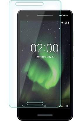 Casestore Nokia 2.1 Nano Ekran Koruyucu Cam Şeffaf + Şeffaf Silikon Kılıf