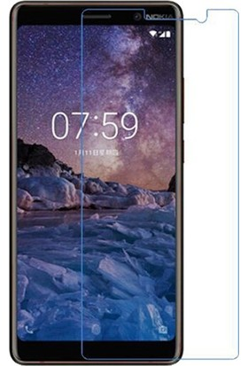 Casestore Nokia 7 Plus Nano Glass Ekran Koruyucu Film + Şeffaf Silikon Kılıf