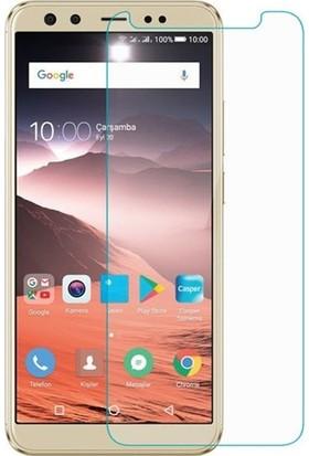 Casestore Casper Via F2 Nano Ekran Koruyucu Cam Şeffaf + Şeffaf Silikon Kılıf