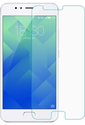 Casestore Meizu M5S Nano Ekran Koruyucu Cam Şeffaf + Şeffaf Silikon Kılıf