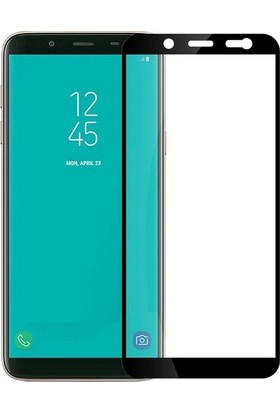 Casestore Samsung Galaxy J8 5D Full Nano Ekran Koruyucu Cam Siyah + Şeffaf Silikon Kılıf