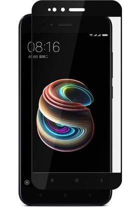 Casestore Xiaomi Mi 5X 5D Full Nano Ekran Koruyucu Cam Siyah + Şeffaf Silikon Kılıf