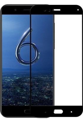 Casestore Xiaomi Mi 6 Esnek 5D Fiber Tam Kaplayan Nano Glass Ekran Koruyucu Cam Siyah + Siyah Silikon Kılıf