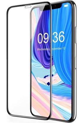 Casestore Apple iPhone XS 5.8 5D Full Nano Ekran Koruyucu Cam Siyah + Deri Silikon Kılıf