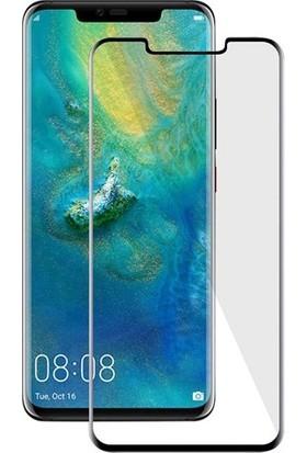 Casestore Huawei Mate 20 Pro 5D Full Nano Ekran Koruyucu Cam Siyah + Deri Silikon Kılıf