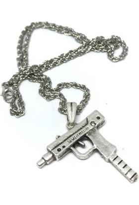 Gamerloot Uzi Çelik Kolye - 65Cm - Gümüş Renkli