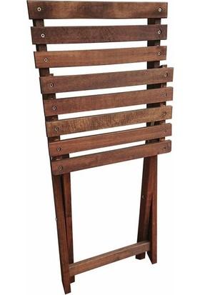 Özdağ Bistro Ahşap Bahçe Ve Balkon Sandalyesi (1 Adet)