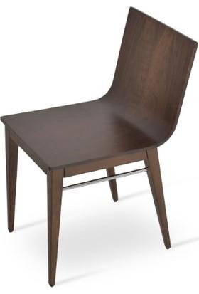 Adas Sandalye Masif Ahşap Mutfak Yemek Sandalyesi