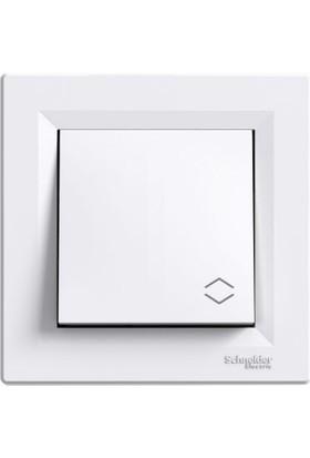 Schneider Electric Asfora Beyaz Çerçevesiz Vavıen Anahtar
