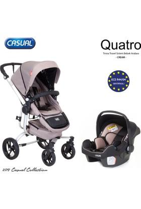 Casual Quatro Trona Travel Sistem Bebek Arabası - Cream