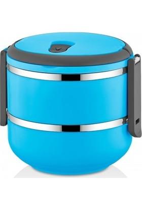 Freshbox Sefer Tası Saklama Kabı 2 Katlı Model 1,50 lt Mavi