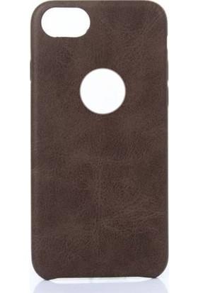 Aksestore iPhone 8 Plus Kahverengi Deri Kılıf