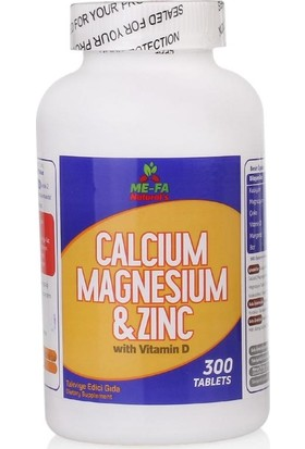 Mefa Naturals Calcium Magnesium Zinc Vitamin D 3 2 KUTU 600 TABLET