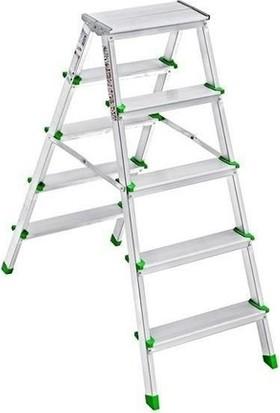 Saraylı Çift Taraflı Alüminyum Merdiven 5+5