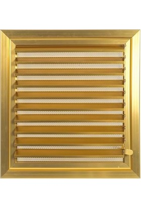 Ai̇Rbender Plastik Menfez Banyo Wc Havalandırma Panjur Altın Sarısı Renk 34X44