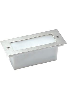 Aker Lighting Paslanmaz Çelik 17 Cm Beyaz Led`Li 1W Gömme Koridor Aydınlatması