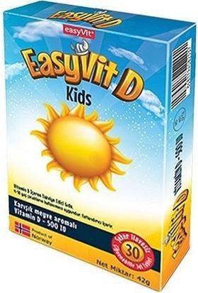 Easyvit Çiğnenebilir Jel Formda Günlük D3 Vitamini Desteği