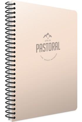 Gıpta Pastoral Spiral Plastik Kapak Defter A4 72 Yp.Kareli