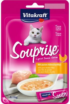 Vitakraft Sıvı Ödül Tavuklu Kedi Çorbası (4X20Gr)
