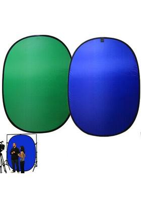 Deyatech Katlanabilir Chromakey 1,5M 2M Green Blue [ Yeşil,Mavi Fon] Chromakey Yeşil Chromakey Mavi