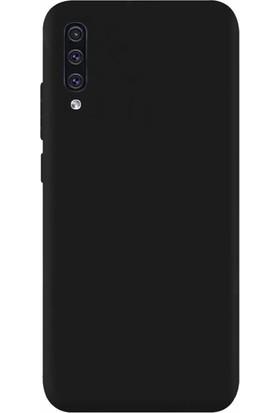 DVR Samsung Galaxy A50 Kılıf Silikon Premier (Siyah) + Cam Ekran Koruyucu