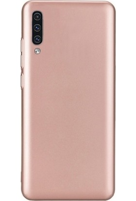 DVR Samsung Galaxy A50 Kılıf Silikon Premier (Rose Gold) + Cam Ekran Koruyucu