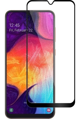 DVR Samsung Galaxy A50 Kılıf Çift Katmanlı Crash Tank Kapak (Mavi) + Tam Ekran Cam Koruyucu