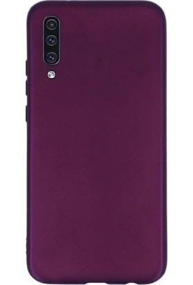 DVR Samsung Galaxy A70 Kılıf Silikon Premier (Mor)