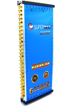 Supermax 10/52 Dual Multiswitch Gold Uydu Santrali