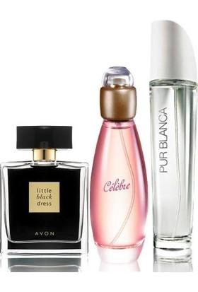 Avon Little Black Dress Celebre Pur Blanca 3'lü Kadın Parfüm Paket