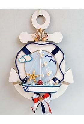 Baby Lüks Bebek Kapı Süsü - Çapa Kapı Süsü - Bebek Odası Denizci Seri